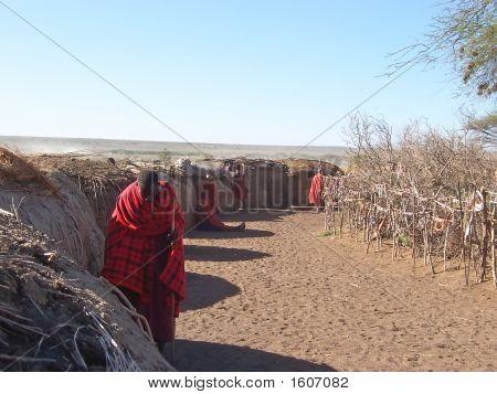 Massai Hut Village, Serengeti Park, Tanzania