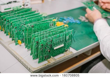 The assembly of computer units. Technological process.