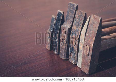 vintage hammer old tools  - rusty hammer