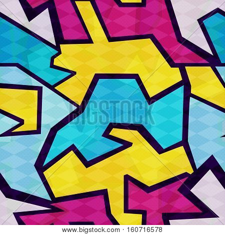 bright abstract background graffiti seamless pattern vector royalty free stock illustration