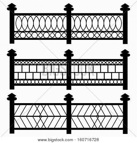 fences isolated symbols collection vector royalty free stock illustration