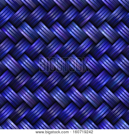 Twill Weave Texture. Abstract blue Geometric Background Design. Seamless Multicolor Pattern.