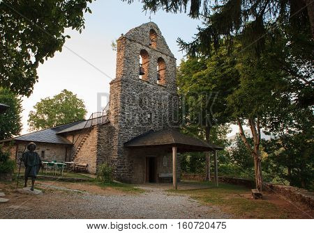 View of the San Andres church in La Faba Spain