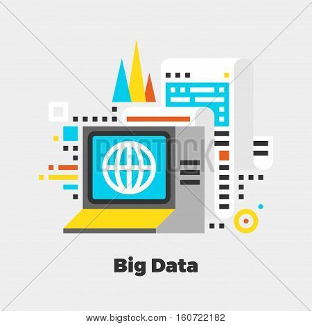 Big Data Flat Illustration.