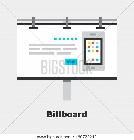 Billboard Flat Illustration.