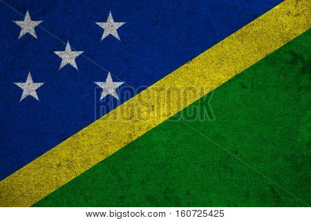 The Solomon Islands Lag On An Old Grunge Background