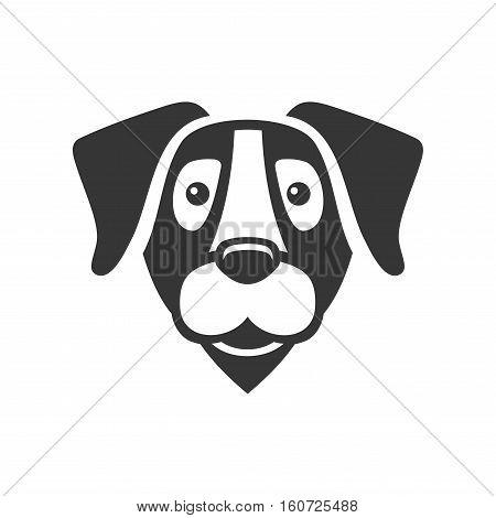Labrador Retriever Dog Head Icon Logo. Vector illustration