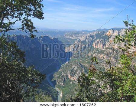 Twisted River Between The Mountain Cliffs, Verdon Gorges, Azur Coast, South Of France