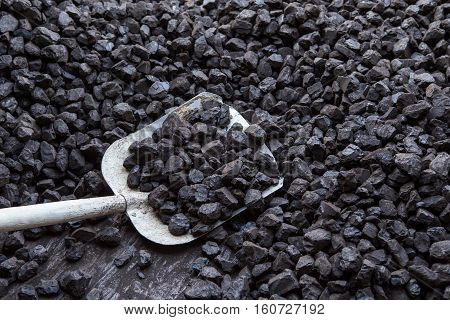 Brown coal, Shovel and coal lignite storage