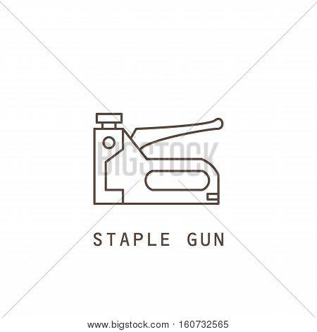 Icon staple gun on white background. Vector illustration.