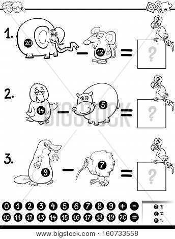 Subtraction Game For Coloring