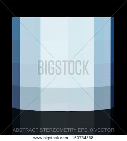Abstract geometry: low poly White Cylinder. 3D polygonal object, EPS 10, vector illustration.