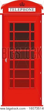 One symbol of the UK red street telephone booth