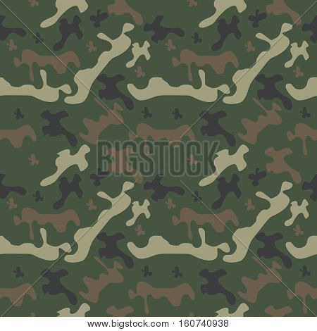 seamless pattern camo, classic woodland camo hamilion for stealth in the green countryside, the vector for fabric and textile
