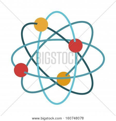 Atom icon. Chemistry science nuclear and molecular theme. Isolated design. Vector illustration