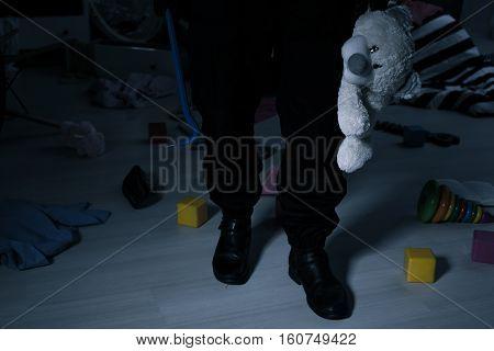 Thief With Teddy Bear