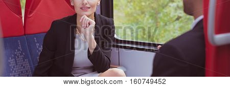 Business Conversation On The Train