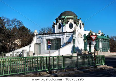 Vienna city Austria Otto Wagner Court Pavilion Hietzing train station
