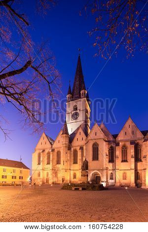 Gothic Church in Sibiu's old city center