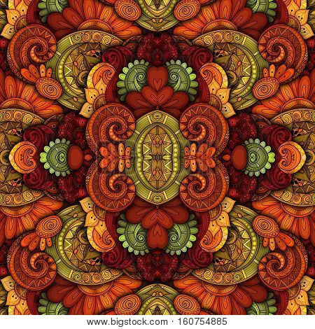 Vector Seamless Abstract Tribal Pattern. Hand Drawn Ethnic Texture Flight of Imagination