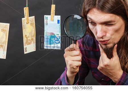 Man Verify Money Cash