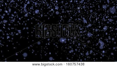 Dust particles bokeh background blue stylish glowing colorful orbs suitable