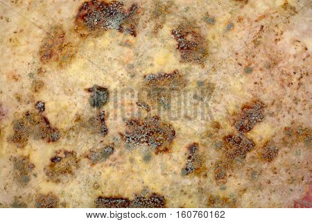 background mold on the spoiled food abstraction infection