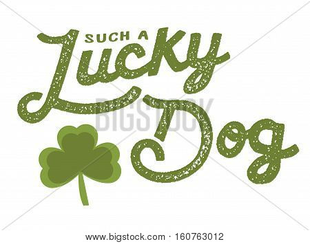 Such a Lucky Dog Typographic St. Patrick's Day Vintage Poster