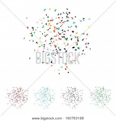 Set Of Vector Textures. Multicolored Flakes