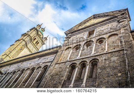 Genova San Lorenzo side view Liguria Italy