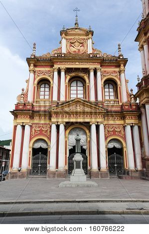 The church of San Francisco at Salta on northen Argentina