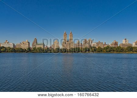 New York City Uptown Skyline At The Afternoon Photographed From The Sea
