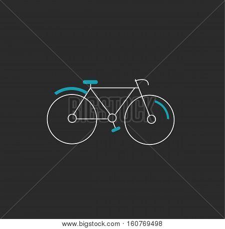 Bike bicycle icon logo black white blue vector stock