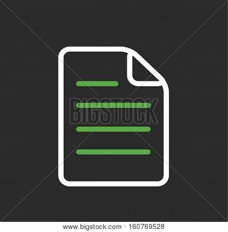 Document paper file symbol icon vector stock