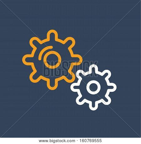 gears cogs business element design logo icon vector stock