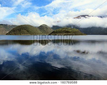It's beautiful mountain lake in Andes, Ecuador.