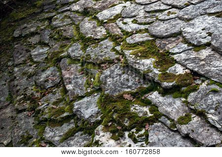 An ancient stoned roof in Galicia (Spain)