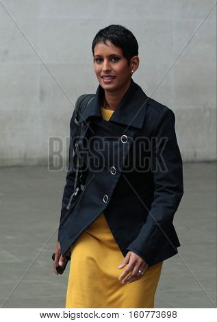 LONDON, UK, SEP 04, 2016: Naga Munchetty Strictly Come Dancing contestant seen at the BBC studios London picture taken in the street