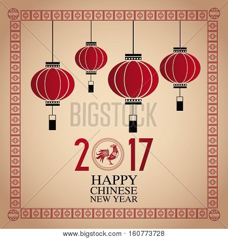 card  chinese new year 2017 vector illustion eps 10
