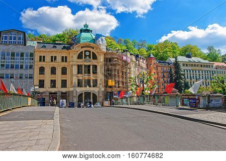 Bank Sparkasse At Promenade In Karlovy Vary