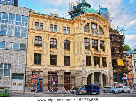 Bank Sparkasse In Promenade In Karlovy Vary