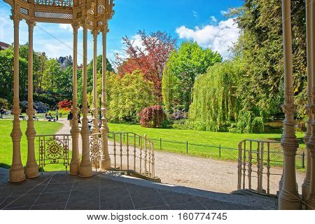 Carved Park Colonnade Karlovy Vary Czech Republic