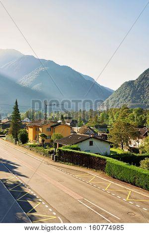 Driveway In Aurigeno In Ticino Switzerland
