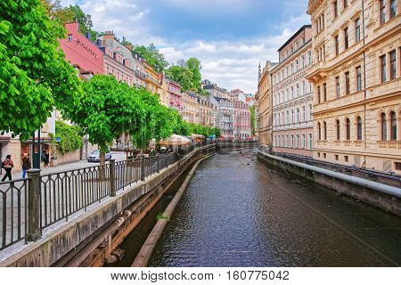 Embankment At The Tepla River In Karlovy Vary