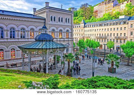 Freedom Spring At Promenade Karlovy Vary