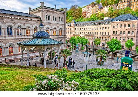 Freedom Spring At Promenade In Karlovy Vary