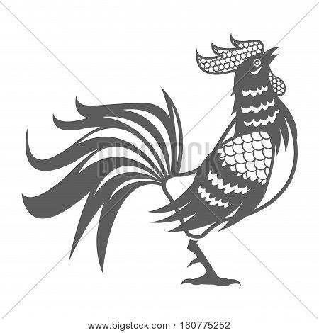 year rooster chinese calendar pictogram vector illustion eps 10