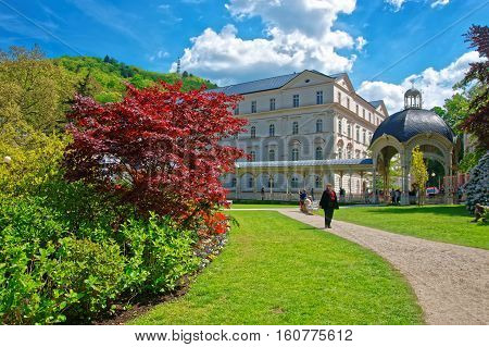Park Colonnade With Wooden Alcove Karlovy Vary