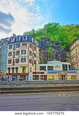 Promenade Street In Karlovy Vary Czech Republic