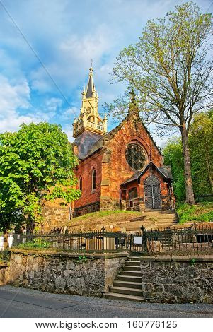 St Luke Church On Castle Hill In Karlovy Vary